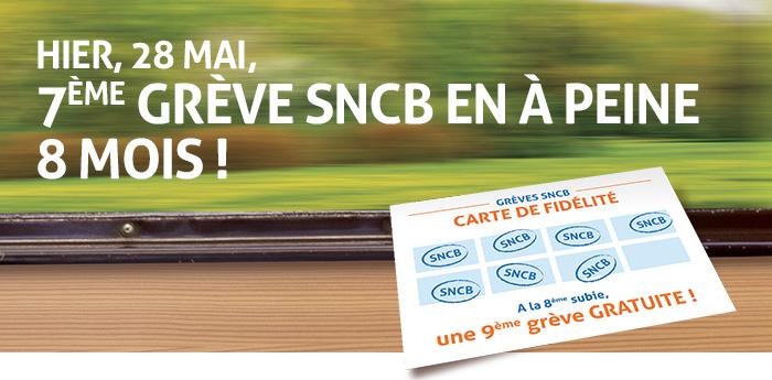 Hier, 26 mai, 7ème grève SNCB en à peine huit mois !